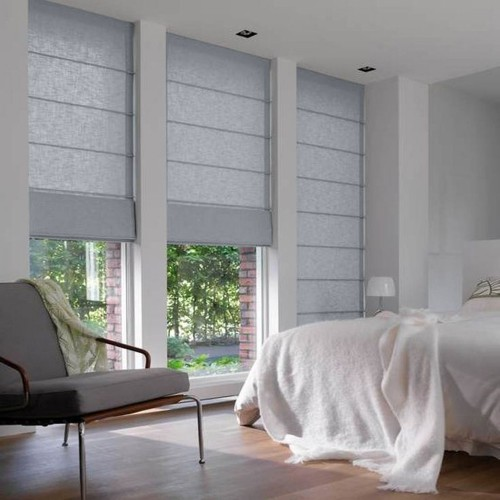 Roman Blind Clear Grey