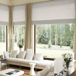 Roman Blinds CremeWeiß