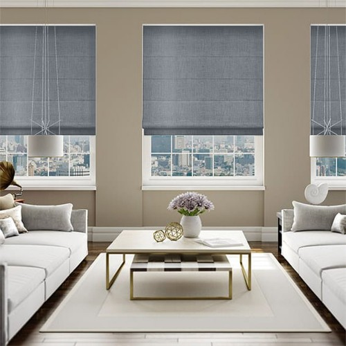 Roman Blind Dark Grey