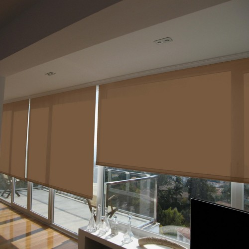 Cortina Enrollable Lavable Avellana Beige