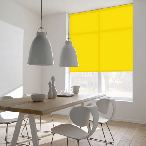 Cortina Enrollable Lavable Amarillo Sol