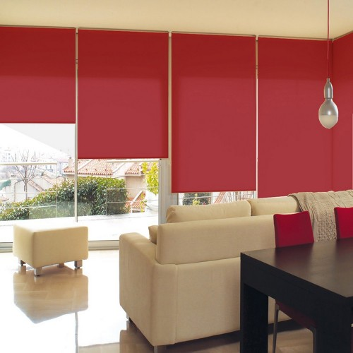 Cortina Enrollable Lavable Rojo