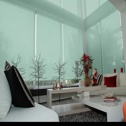Washable Roller Blinds Water Green