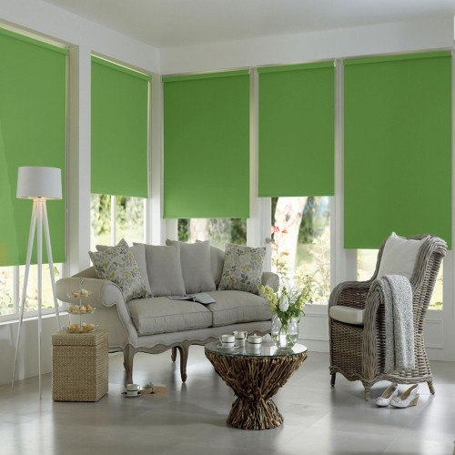 Washable Roller Blinds  Light Green