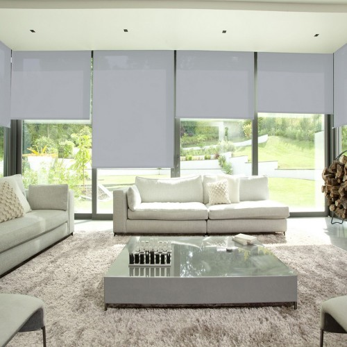Cortina Enrollable Lavable Gris Perla