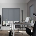 Cortina Enrollable Lavable Gris Oscuro