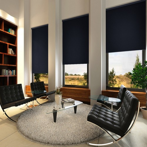 Washable Roller Blinds Dark Blue