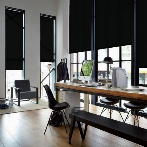 Washable Roller Blinds Black