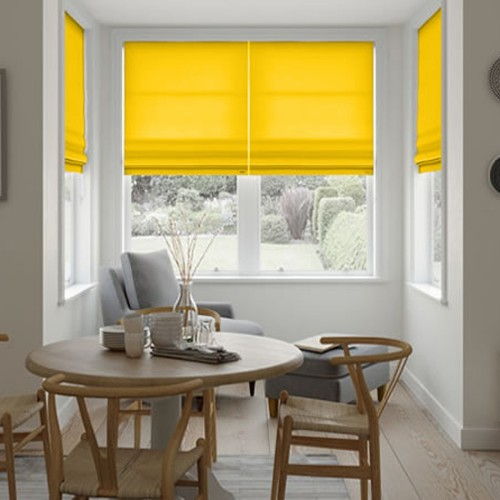 Roman Blind Yellow Sun