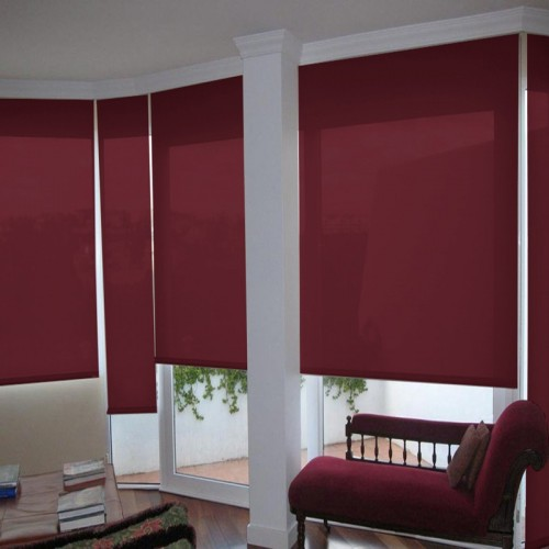 Washable Roller Blinds Dark Red
